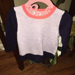 Crewcuts 2t navy and orange light weight sweater